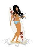 серфер девушки Стоковая Фотография RF