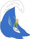 Серфер бесплатная иллюстрация
