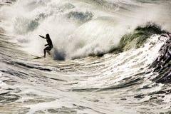 серфер shorebreak Стоковое фото RF