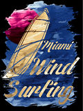 Серфинг ветра Miami Beach Стоковые Фото