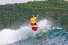Серфинг волны Стоковое Изображение