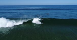 Серфинг в Марокко r Вертолет сток-видео