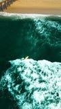 Серфинг в Manhattan Beach Стоковое Изображение