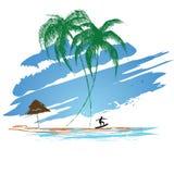 Серфинг лета иллюстрация вектора