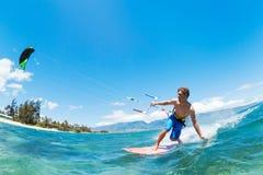 Серфинг змея Стоковые Фото
