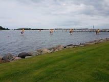 Серфинг Heiligenhafen Германии стоковое изображение rf