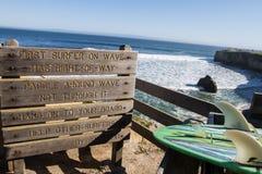 Серфинг Santa Cruz Стоковые Изображения RF