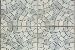 Серые вымощая слябы - картина круга Стоковые Изображения
