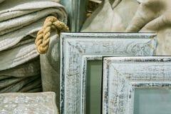 Серые деревянные рамки фото Стоковая Фотография RF