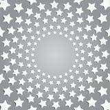 Серые звезды в круге с тенью 10 eps Стоковые Фото