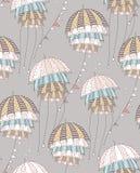 Серые зонтики Иллюстрация картины вектора стоковые изображения