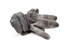 Серые изолированные перчатки работы Стоковые Изображения