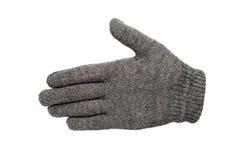 Серые изолированные перчатки Стоковая Фотография