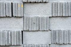 Серые каменные текстура или предпосылка стены кирпичей Стоковая Фотография
