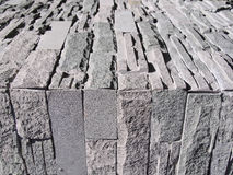 Серые кирпичная стена и настил Стоковая Фотография RF