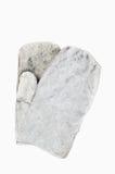 Серые перчатки работы на белой изолированной предпосылке Взгляд сверху Стоковые Фотографии RF