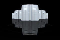 серые серверы Стоковые Изображения RF