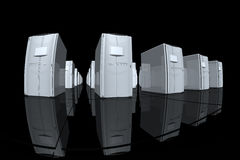 серые серверы Стоковое фото RF