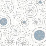 серые снежинки на белизне Стоковое Изображение