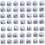 серые установленные иконы Стоковое фото RF