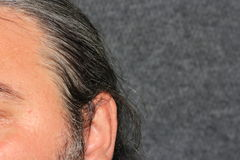 Серые люди волос Стоковая Фотография RF