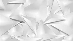 Серые 3d приглаживают анимацию треугольников геометрическую полигональную видео- иллюстрация вектора