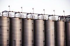 Серые vats хранения Стоковые Изображения