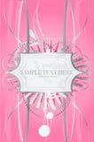серый богато украшенный розовый экран Стоковые Изображения RF