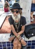 Серый бородатый человек Стоковое Фото