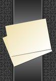 серый бумажный лист тесемки иллюстрация вектора