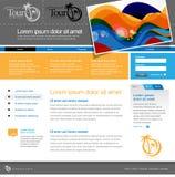 серый вебсайт шаблона Стоковые Фотографии RF