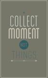 Серый винтажный мотивационный плакат. Соберите момент n Стоковые Фото