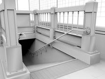 Серый вход станции метро Стоковое Изображение