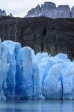 Серый ледник, Torres del Paine, Патагония, Чили Стоковые Фотографии RF