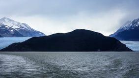 Серый ледник, Torres del Paine, Патагония, Чили Стоковая Фотография RF