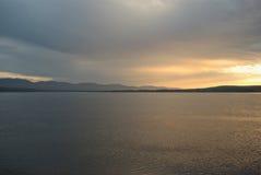 серый заход солнца Стоковое Изображение