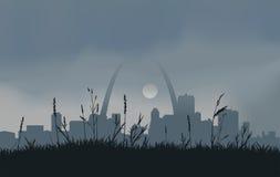 Серый заход солнца Сент-Луис бесплатная иллюстрация