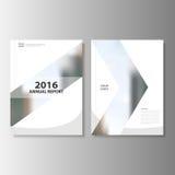 Серый дизайн шаблона рогульки брошюры листовки годового отчета вектора, дизайн плана обложки книги, абстрактные серые установленн Стоковые Фотографии RF