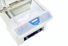 Серый изолированный принтер компьютера Стоковое фото RF