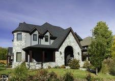 Серый каменный дом Стоковое Фото