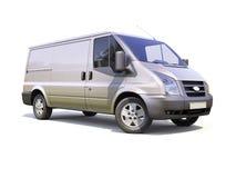 Серый коммерчески фургон поставки Стоковое Изображение RF