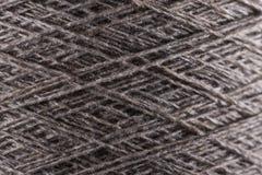 Серый конец макроса потока шерстей вверх Стоковая Фотография