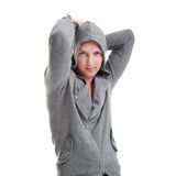 серый красивый человек куртки Стоковые Фото