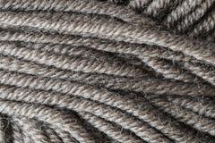 Серый крупный план макроса шарика потока шерстей Стоковое Изображение RF