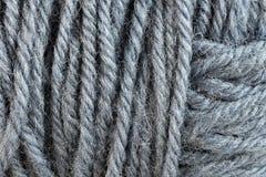 Серый крупный план макроса шарика потока шерстей Стоковое Изображение
