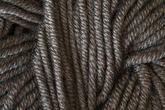 Серый крупный план макроса шарика потока шерстей Стоковые Изображения RF