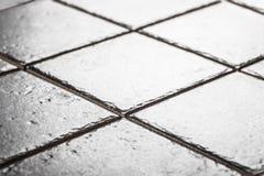 Серый крупный план керамических плиток Стоковые Изображения RF