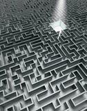 серый лабиринт Стоковые Фото