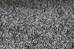 Серый макрос предпосылки текстуры шерстяной ткани knitwear Стоковые Изображения RF