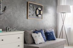 Серый домашний интерьер Стоковое Фото
